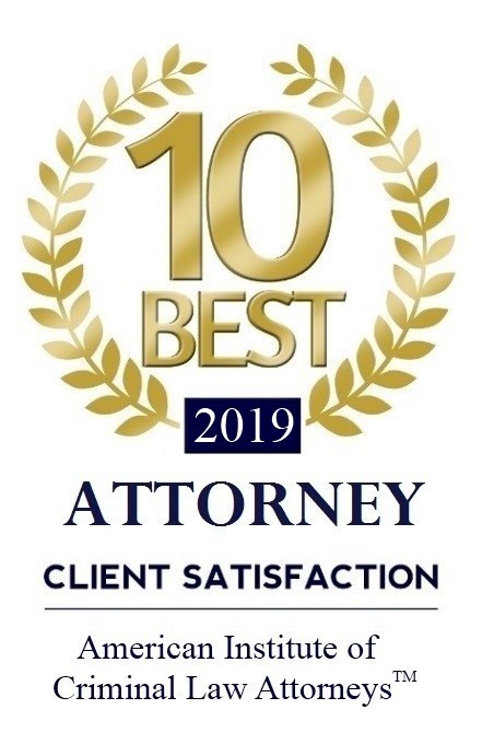 Attorney Client Satisfaction winner - 2019