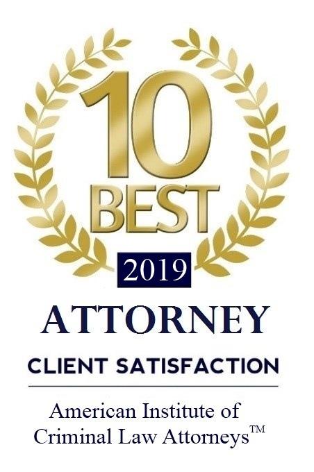 Attorney Client Satisfaction winner - 2019